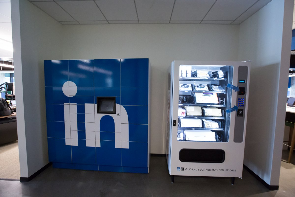 heres-a-vending-machine-if-you-need-new-gear-to-do-your-job-weve-seen-these-at-facebook-also-but-the-screen-in-the-middle-of-the-linkedin-logo-is-a-nice-touch