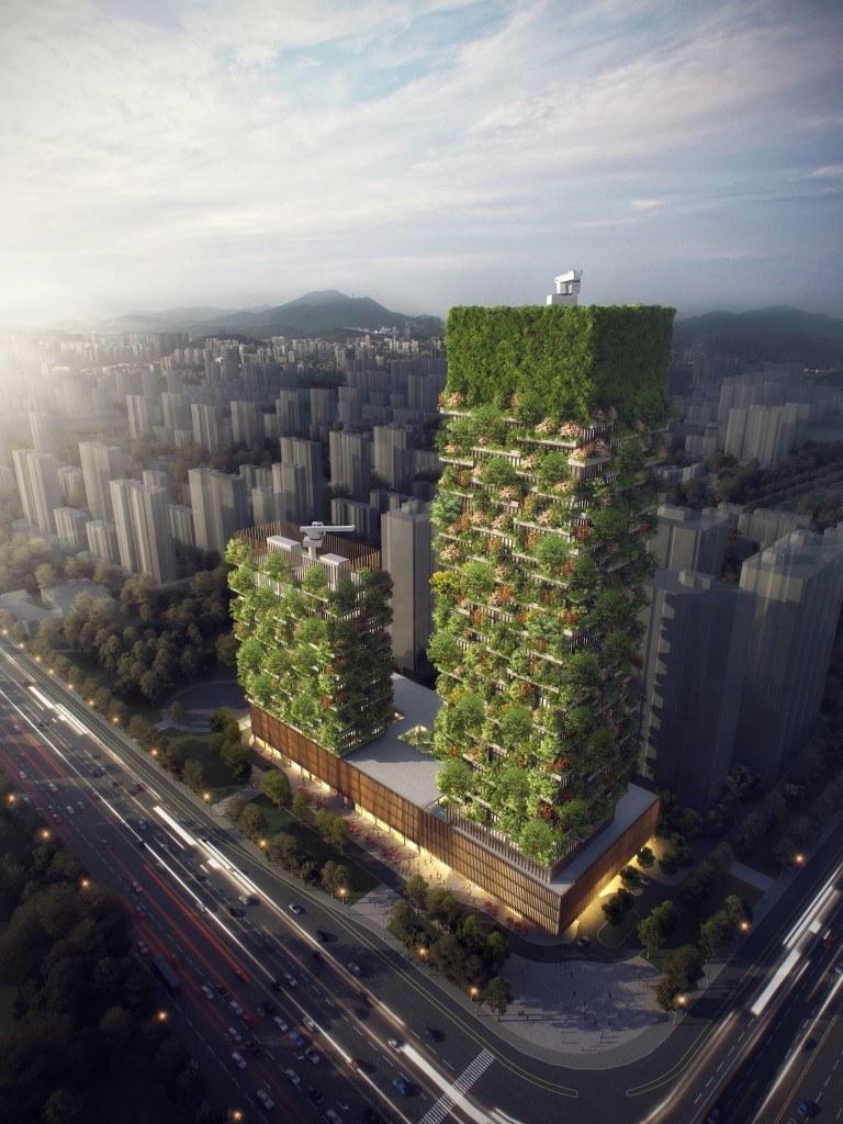 A Ásia está prestes a ganhar a sua primeira floresta vertical! - foto: reprodução